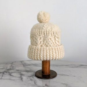 vintage 80's hand knit winter beanie